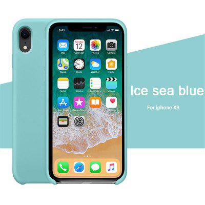 OLAF Original Solid Silicone Thin Soft for iPhone Case for iphone XR Candy Colorful Logo