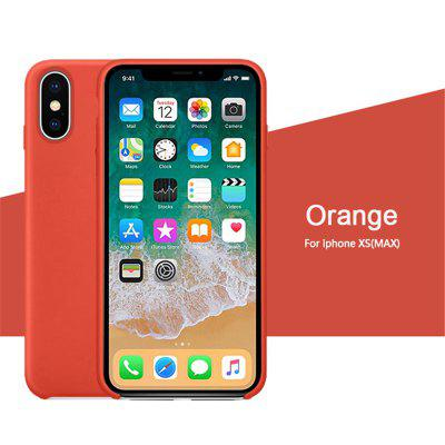 OLAF Original Solid Silicone Thin Soft for iPhone Case for iphone XS MAX Candy Colorful Logo