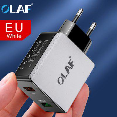 OLAF 2-port USB Quick Charge Fast Charging Power Charger Adapter Mobile Phone for Iphone Samsung