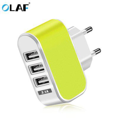 OLAF 3 USB Charger Fast Charging Lighting Candy Color Universal for Mobile Phone