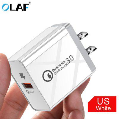 OLAF 1 USB Port Quick Charge 3.0 Universal Fast Charging Charger for USB Cord