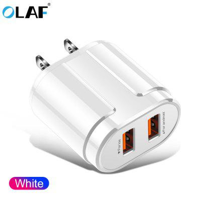 OLAF 2.4A 2-USB Port Quick Charge Fast Charging Charger Universal for Phone