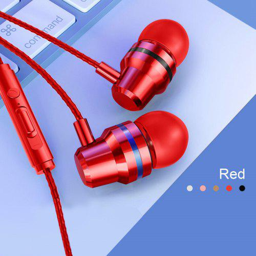 Gearbest OLAF 3.5mm Wire Earphone In-ear Wire 4D Sound Good Voice Bluetooth Sport for Iphone xiaomi samsung - Red