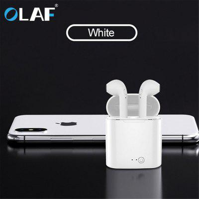 OLAF i7s Bluetooth Earphone Mini Wireless Earbud Sport Cordless Headset with Charging Box for iphone
