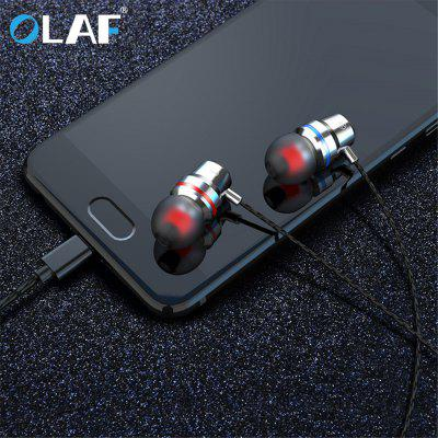 OLAF  Wire Earphone In-ear 4D Sound Good Voice Bluetooth Sport for Type C interface for phone