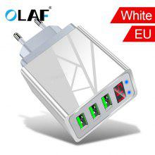 OLAF 3.1A 3-port USB  Fast Charging Digital Display Support Adapter for iphone xiaomi note 10 huawei