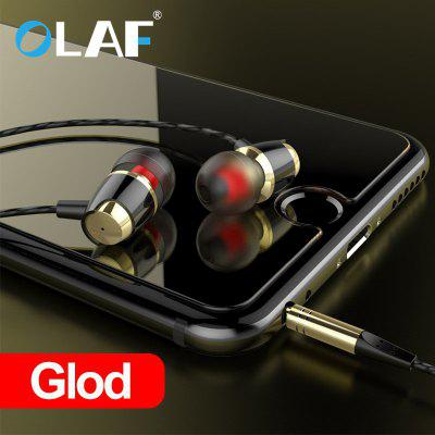 OLAF In Ear 3.5mm Wire Earphone Headset with Microphone Metal Clear Sound Quality Earphone