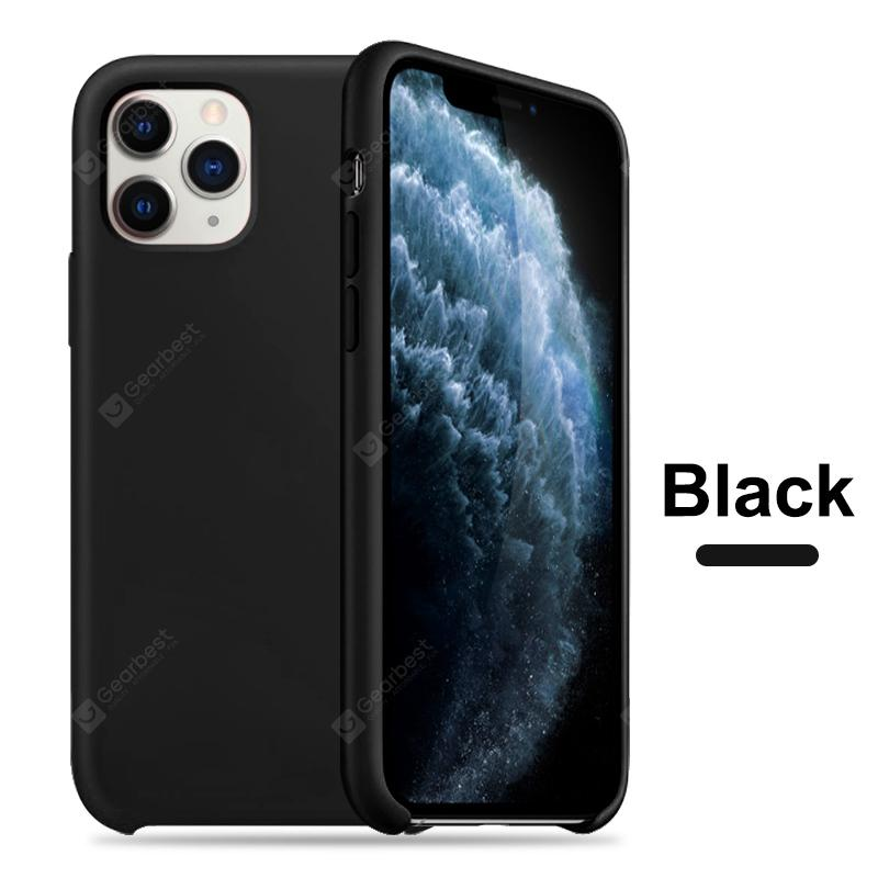 OLAF Original Solid Silicone Thin Soft for iPhone Case for iPhone 11 Pro MAX Solid Color - Black For iPhone 11 Silicon