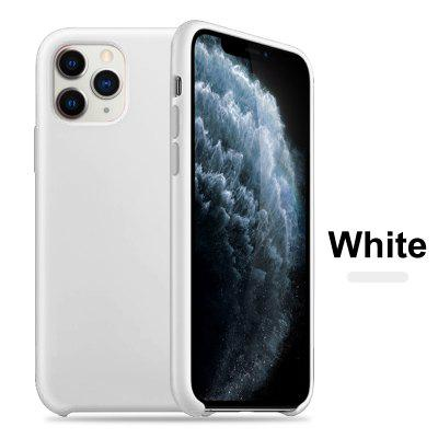 OLAF Original Solid Silicone Thin Soft for iPhone Case for iPhone 11 Pro MAX Solid Color Logo