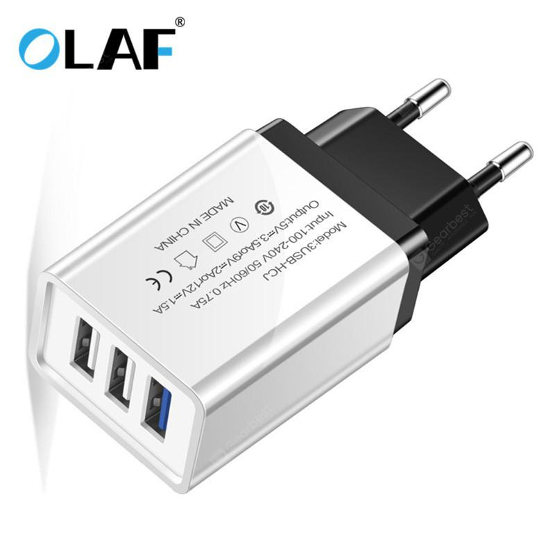 OLAF Quick Charge 3.0 USB Charger Multi-outlet Mobile Phone Charger for iPhone Samsung Xiaomi Mi