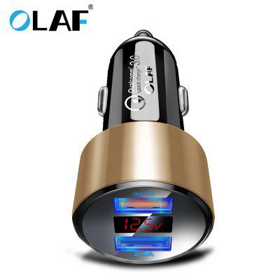 OLAF QC 3.0 Dual USB Charger with LED Display Universal Car Charger for Xiaomi Samsung iPhone
