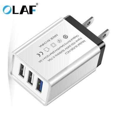 OLAF Quick Charge 3.0 USB Multi-outlet Mobile Phone Charger for iPhone Samsung Xiaomi mi note 10