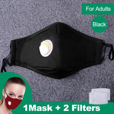 Cotton PM2.5 Mouth Mask Anti Dust Mask Nonmedical Filter Windproof Mouth-Muffle Bacteria Proof