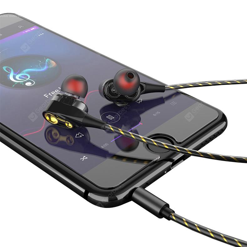 OLAF Original Design Double Speaker In-ear Stereophonic BASS Subwoofer for Iphone Xiaomi Huawei