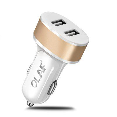 OLAF Dual USB Universal Smart Car Charger Fast Charging For Iphone Samsung Xiaomi Huawei