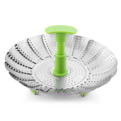 zanmini ZS3 9inch Stainless Steel Collapsible Food Steamer Basket