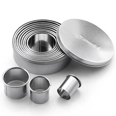 zanmini Z - round Stainless Steel Round Cookie Cutter Set