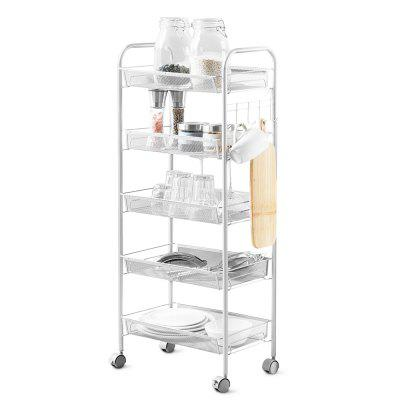 5-Tier Storage Rack Organizer Kitchen Shelving Unit 5 Tier Wire Shelving Unit