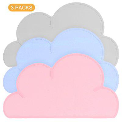 Kids Placemats Silicone Non Slip Placemat for Kids Baby Toddlers Waterproof Baby Placemat Cloud