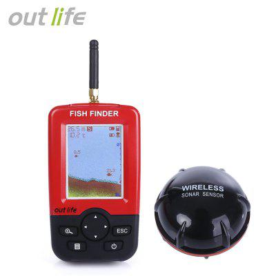 Outlife Portable Fishing Fish Finder Sonar Sounder Transducer Fishfinder 100M Fishing Wireless Echo