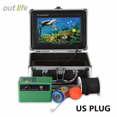 outlife 7 inch HD 1000TVL Underwater Fish Finder 145 Degree IP68 with 15 White LEDs Infrared Lamp