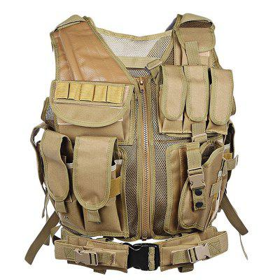 Outlife Tactical Vest Military Swat Assault Shooting Hunting Molle Vest Plate Carrier with Holster