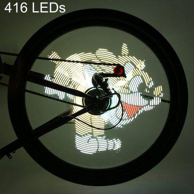 416 LEDs Programmable Bicycle Light Gif Picture DIY Bike Led Wheel Bike Lights Waterproof