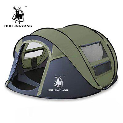 HUILINGYANG Automatic Tent 3 - 4 People Outdoor Camping  Tents