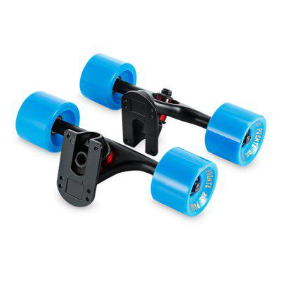 PUENTE 2pcs Set Skateboard Truck with Skate Wheel Riser ABEC - 9 Bearing