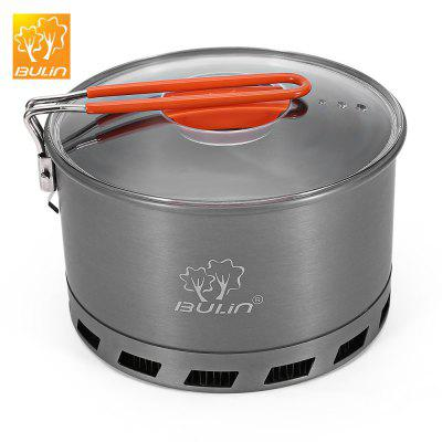 BULIN S2500 2.1L Camping Heat Exchanger Pot 2 - 3 Person  Cookware Picnic Quick Heating Kettle