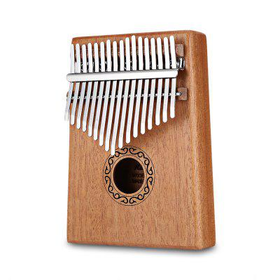 17 Keys Wooden Kalimba Thumb Piano Portable Finger Musical instrument With Learning Book Tune Hammer
