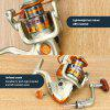 NACATIN NA1000-7000 Spinning Fishing Reel Gear Fixed Spool Freshwater Fishing Spinning Reel