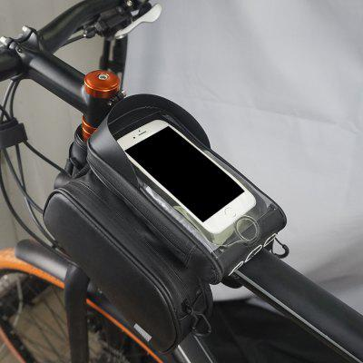 SAHOO Bicycle Bag Bike Cell Phone Tube Double Bag with Fingerprint Unlock Sun Visor