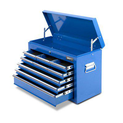 Giantz 9 Drawers Mechanic Tool Box Storage Blue Lockable Chest Cabinet Tool Box Home Storage