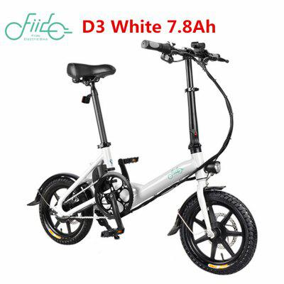 FIIDO D3 14 inch Electric Bicycle 7.8Ah 36V Aluminum Alloy LED Front Light Folding Bike Image