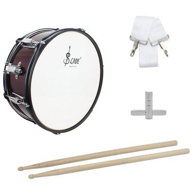 SLADE 14 inch Small Snare Drum with Stick Strap Wrench Rust-resistant Anti-fade Aluminum Alloy Drum