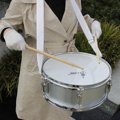 SLADE 14 inch Snare Drum Transparent Drum with Drumstick Strap Wrench Rust-resistant Anti-fade Drum