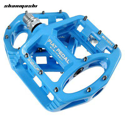 Shanmashi 2PCS MG 5051 Flat Bicycle Pedal Racing Anti-Slip Magnesium Alloy Mountain Road Bike Pedals