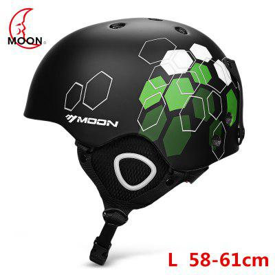 MOON Outdoor Integrated Skiing Helmet with Adjustable Strap Air Vent Cycling Skating Sports Helmet