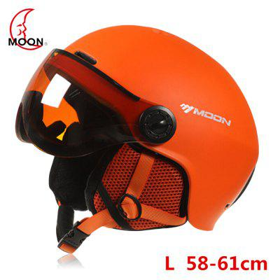 MOON Outdoor Integrated Skiing Helmet with Goggle Air Vents PC Shell EPS Body Cycling Skating Safety