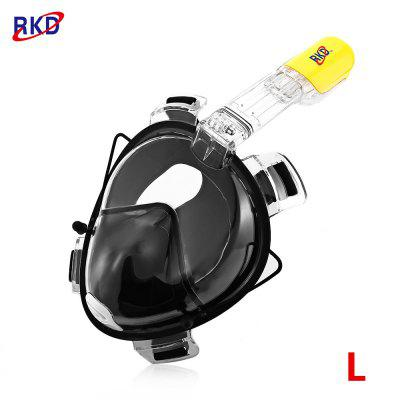 RKD Scuba Diving Training Anti Fog Detachable Dry Snorkeling Full Face Mask Set for GoPro Camera