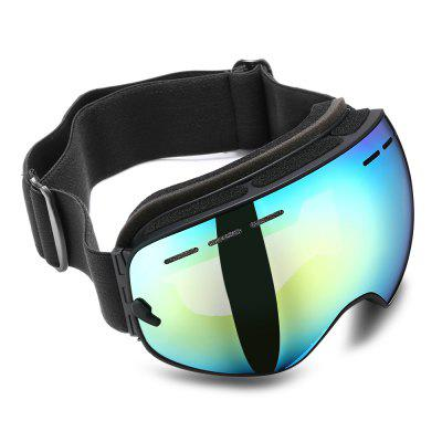 Borderless Skiing Goggles Eyewear 2-layer Lens Safety Glasses Anti-UV Anti-fog for Adults Sports