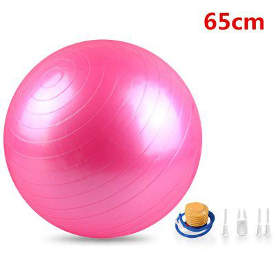 Yoga Ball with Air Pump Quick Inflation 200kg Load-Bearing for Fitness Balance Workout Safe Training