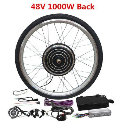 Electric Bicycle Motor Modification 26 inch Wheel Electric Kit Conversion Kit 48V 1000W Motor Wheel Image