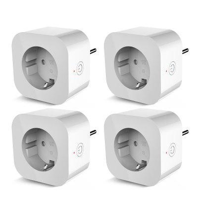 4PCS Elelight PE1004T Smart Sockets Remote Control Outlet with Timing Function WiFi Smart Socket