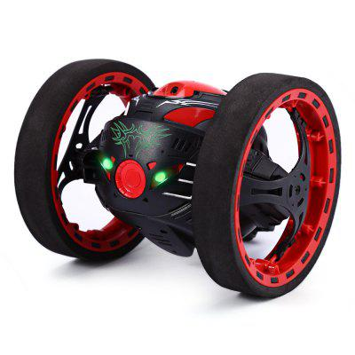 PEG SJ88 2.4GHz RC Bounce Car with Flexible Wheels Rotation LED Light Speed Switch