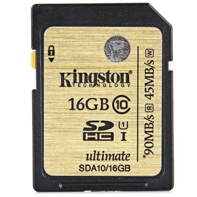 Kingston High Capacity 16GB 90MB/s Class 10 UHS-I SDHC SDXC Memory Card for 3D HD Video Recording