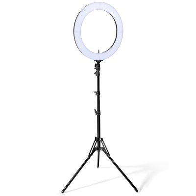 Houzetek LD - R18 - S 18 inch Bi-color Dimmable LED Ring Light EU Plug