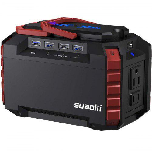 SUAOKI S270 150Wh Portable Power Station with AC Outlets 4 DC Ports 4 USB Ports and LED Flashlights - Japan