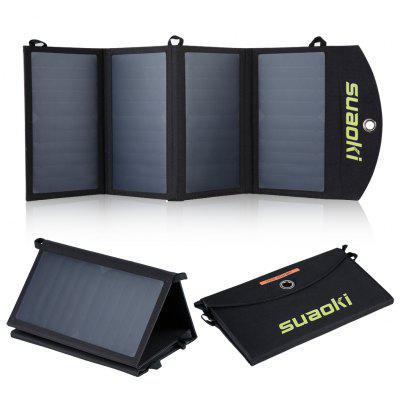SUAOKI 25W Quadruple Solar Panel with Dual-Port with TIR-C Technology